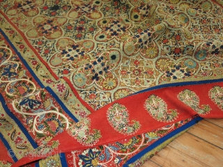 Antique Rasht Resht Textile 4'7''x7'8''.  In very good condition.  Has a little staining.