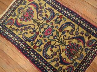 Antique Yellow Lilihan.  2'x2'11''.  Very good condition.