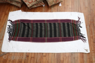 Antique Tobo Batak Indonesia Weaving.  Nice graphic.  Measure 2'x5'