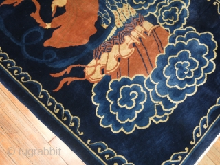 Antique Chinese Peking Rug.  4'x5'9''.  Excellent condition.  One of the immortals.
