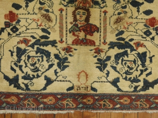 Antique Persian Hamedan.  Pictorial 3'x2'