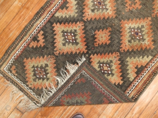 Large Scale Antique Balouch 2'6''x3'10''.  Has a repile other than that excellent.