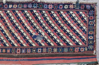 Shahsawen Panel wonderful colors and very nice condition all original it has one small hole but if you want we can repair with old wool and size 94x47 cm Circa 1880