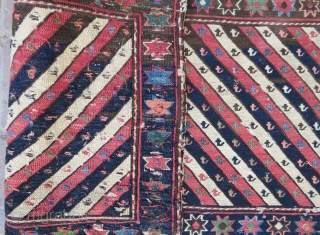 Shahsawen Panel 2 wonderful colors and very nice condition all original and size 100x47 cm Circa 1880