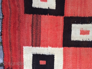 Navajo blanket / rug with great design 40 inches x 72 inches.