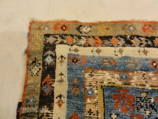 """Antique Turkish Prayer Rug A beautiful antique Turkish prayer rug. Used for religious rituals. A genuine and authentic piece of woven carpet art sold by the Santa Barbara Design Center.  3' x 4'3"""""""