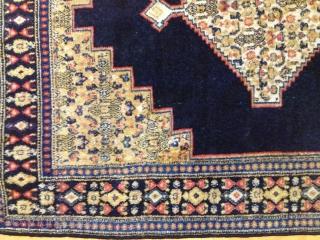 Antique persian Seneh rug 144cmx115cm pazyryk antique