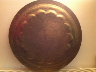 Antique brass tray 61cm
