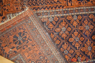19th century Beluch rug wool on wool/natural colors 163cmx92 pazyryk antique