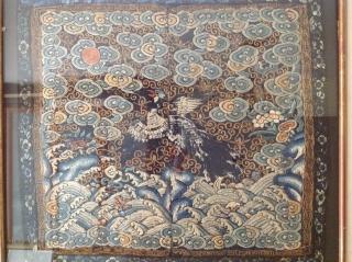 Antique Chinese needle work Silk 37cmx33cm