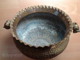 Antique Indian bowl 26cm diameter x21 h