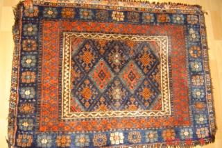 1940 Jaf natural colours 105cm x 80cm pazyryk antique