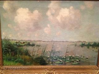 Oil painting on canvas W.A.WASSENAAR 25/SEP/1938 62CMX40CM