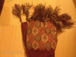Antique gold/silk thread embroidered Bag/purse