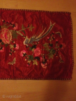 Antique china silk needle work