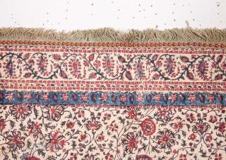 Indian Qalamkari Quilted Panel 84 x 101 cm / 2'9'' x 3'3''