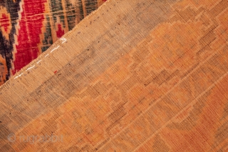 Yazd or Kashan Silk Velvet Ikat Panel 112 x 141 cm /3'8'' x 4'7''