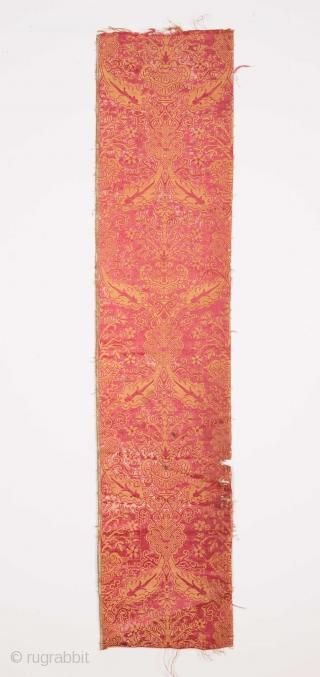 Italian Brocade Fragment 16th/ 17th C.  29 x 130 cm  / 11.4'' x 51.1''