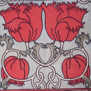 European ( French or Italian ) Printed Panel Early 20th C. 177 x 338 cm / 5'9'' x 11'1''