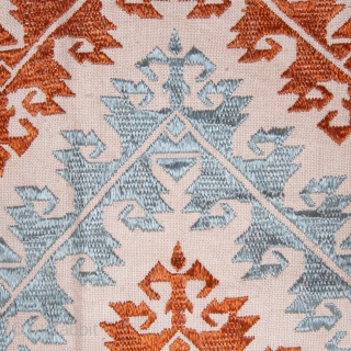 Greek Naxos Embroidered Pillow Top
