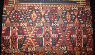 early kurdish east anatolian Kelim, size 367x095cm