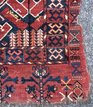 """Antique Beshir chuval with ikat  design, best of type, 99x181cm, comparable to """"Atlantic collectionsplate 211"""""""