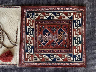 Caucasian sumakh doublebag from Armenia in very good condition, woven around 1900 , size 117x39cm