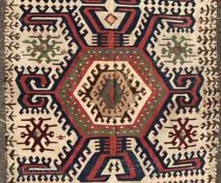 Early anatolian kilim with superb colors