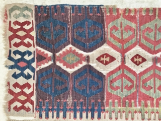 Early Anatolian kilim half with great colors