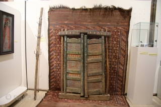 Sykyrlauk-the door of the Yurt, Karakalpakstan, wood,carved,painted 19th century