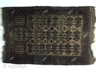 1850s Baluch Timuri  prayer Rug rare typ and color palette sıze 170 cm x 148 cm