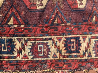 Early classic P- chodor Yomud main Rug fragment mid 18th Century -1790 