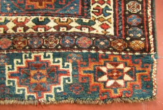 "2' 8"" x 3' 6"" Kurd Bagface  Missing rows of knots at each end; one small repair   Free Ship/U.S.  3 Day Returns Policy"