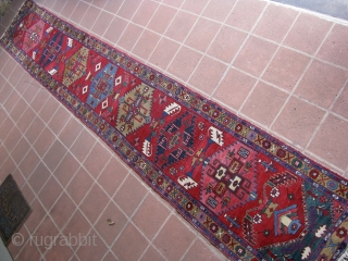 """2' 10"""" - 3'0"""" x 18' 8"""" Northwest Persian, with some small areas in need of re-piling. Minimal attrition at both ends.  Quote includes shipping/U.S.   3 day returns policy."""