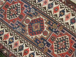 """3' 3"""" x 9' 2"""" Northwest Persian with ends secured; selvage wrapping replaced.  Free Ship/U.S.    3 day returns policy."""