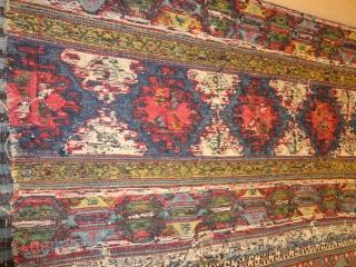 Unique  magnificent  antique  Shasawan double  Mafrash 114 X 153  cm. Signt  Saheb  Mousharaf  , dated  1254  /  1836  Fantastic  colours  ...