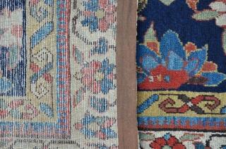Antique NW Persian Carpet, ca.1800, 407 x 106 cm, great colors and beautiful Mina Khani design.