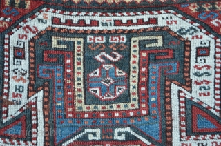East Anatolian / Caucasian carpet with motives of Sewan Kasak, Shirvan ...but made probably near the Van Lake / Turkey regarding to knotting and colors. Rich of mythological ikonography. 330 x 124  ...