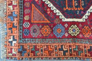 East Anatolian Yuruk with apricot ground border, very nice condition. 190 x 104 cm