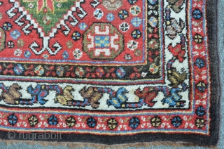 Lovely antique Persian Lori in mint condition. Last Q. 19th. Meaty pile all over. 190 x 101 cm.