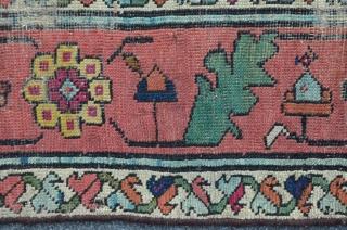 Antique Karabagh carpet, 241 x 95 cm, ca. 1850