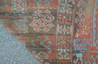 East Anatolian Carpet Fragment, 19th, 214 x 99 cm