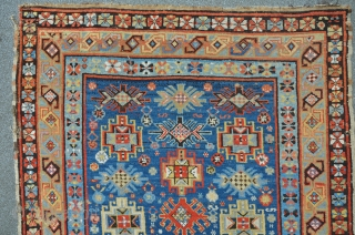 North east Caucasian carpet, original condition, clean, 234 x 140 cm, wide range of lovely colors.