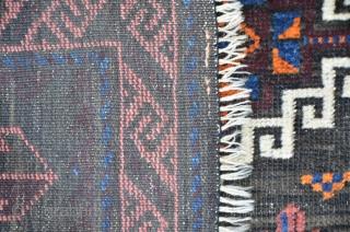 Baluch bagface with silk highlights 76 x 67 cm