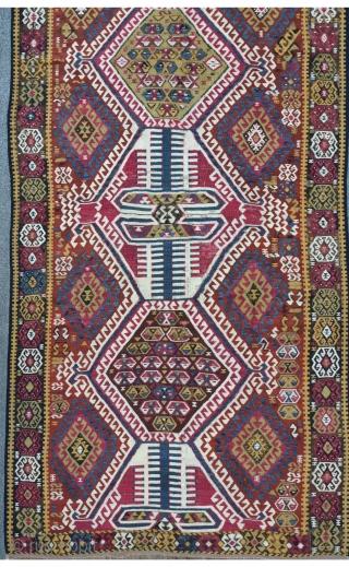 East Anatolian Kilim, 362 x 128 cm