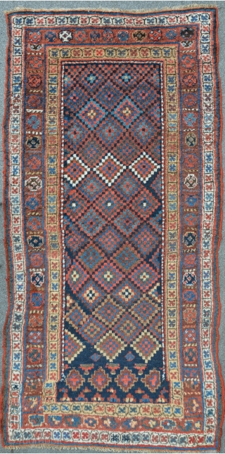 Kurdish ( Persian) Carpet with stunning field composition, 231 x 116 cm