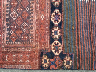 Bachtiar, mixed techniques. 204 x 97 cm. Made of two identical large bags. 19th Century