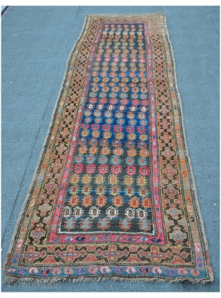 NW Persian Meshkin runner, 304 x 99cm, nice palette of colors, ready for the floor