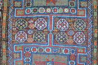 Antique Quchan carpet, meaty high floor, 245 x 157 cm, all sides reduced.