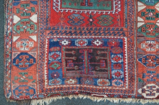 East Anatolian Yuruk, 19th, great colors...lots of different greens, aubergine. 203 x 134 cm.